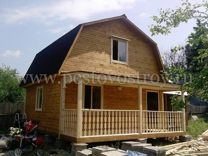 Дома из бруса с террасой от строителей из Пестово