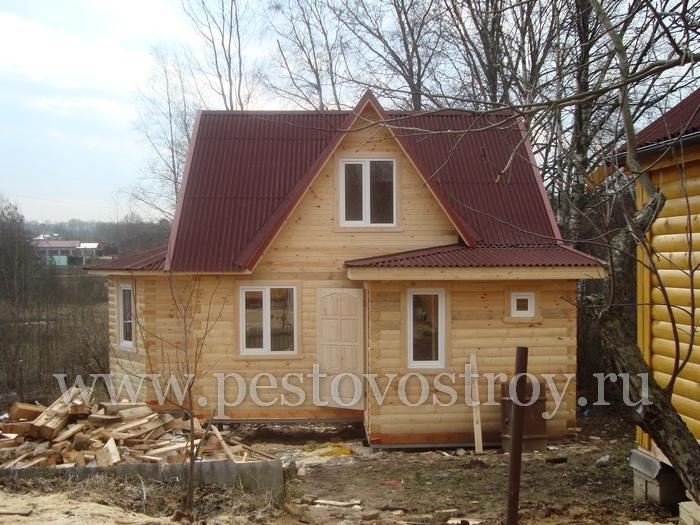 Деревянные дома, коттеджи, домики брусовые под ключ и под усадку, фотографии загородных домов