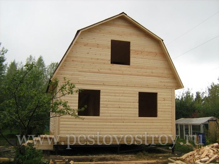 Срубы домов 6х6м в Новгородской области, Пестово