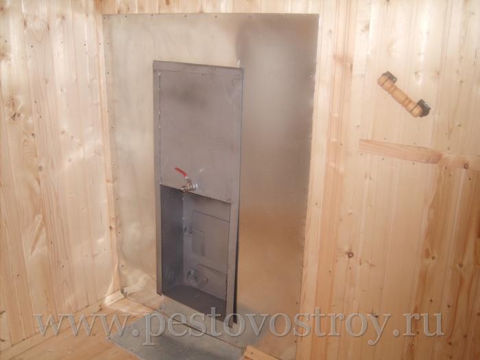 Фотография отделки перевозных бань изнутри